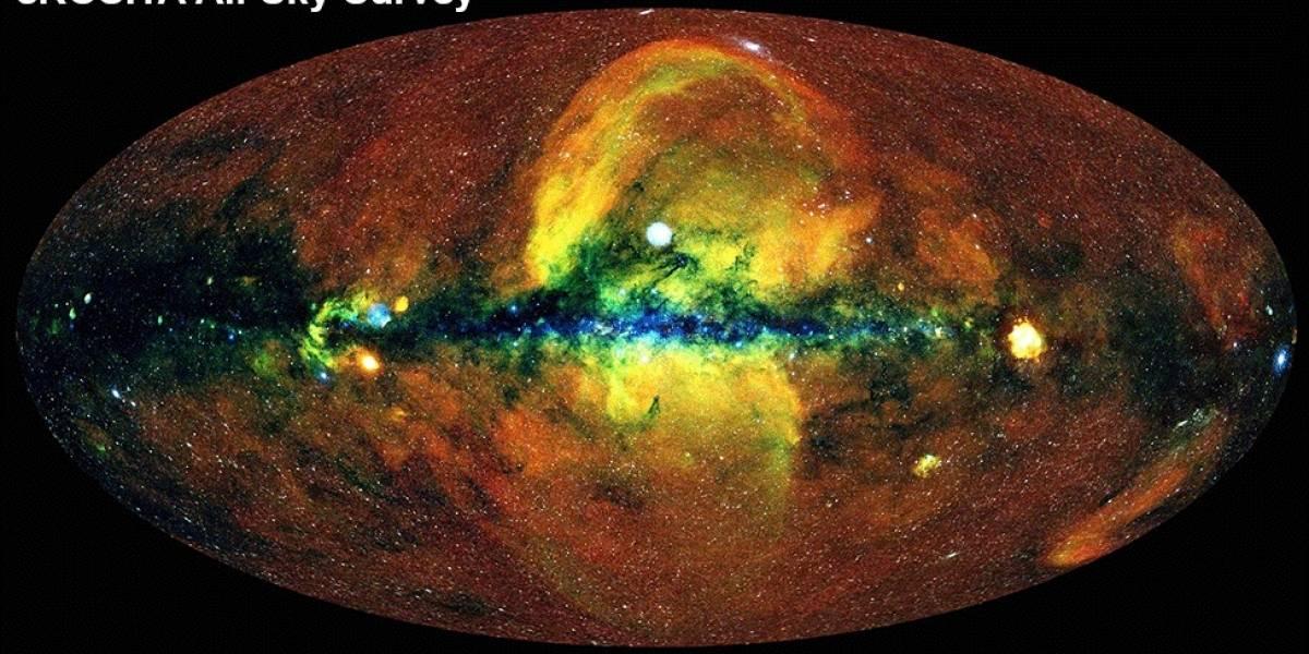 Esta es la imponente imagen del mapa del universo, retratado por el telescopio de rayos X eROSITA