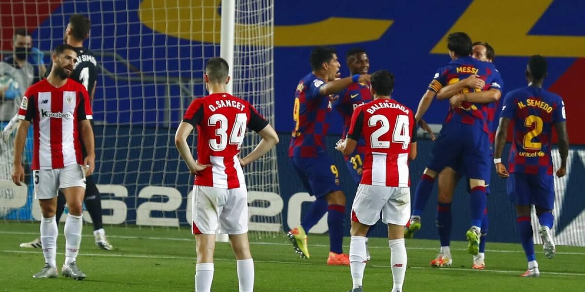 Con Vidal todo el partido, el Barça sufrió para ganar y seguir vivo en la Liga