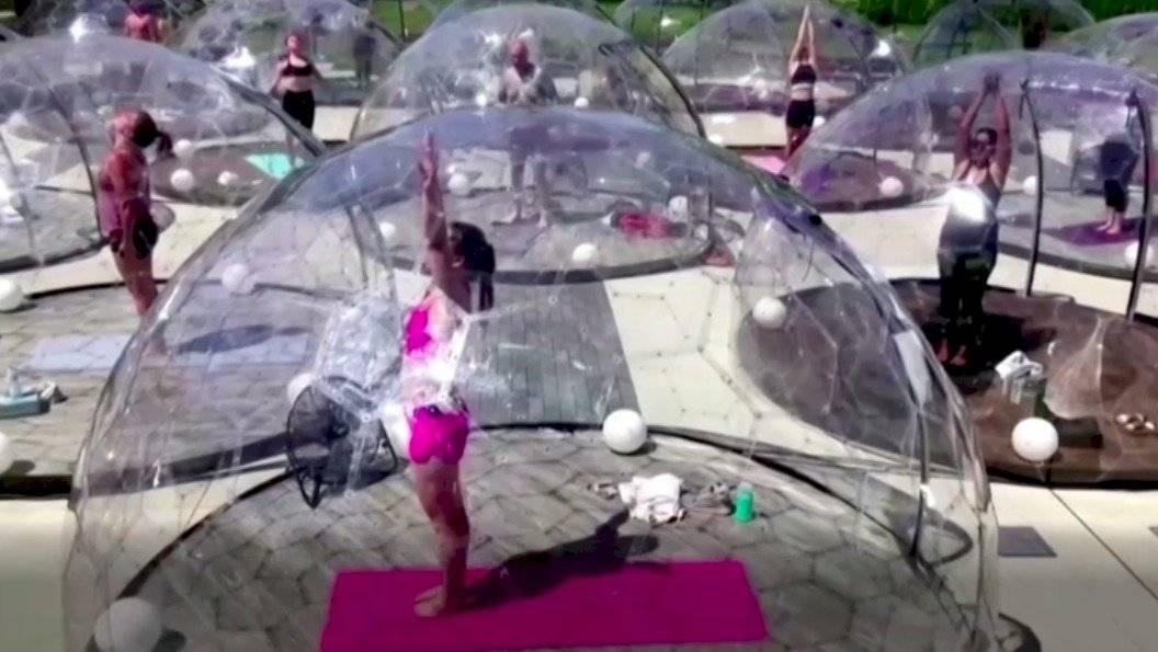 Yoga en burbujas
