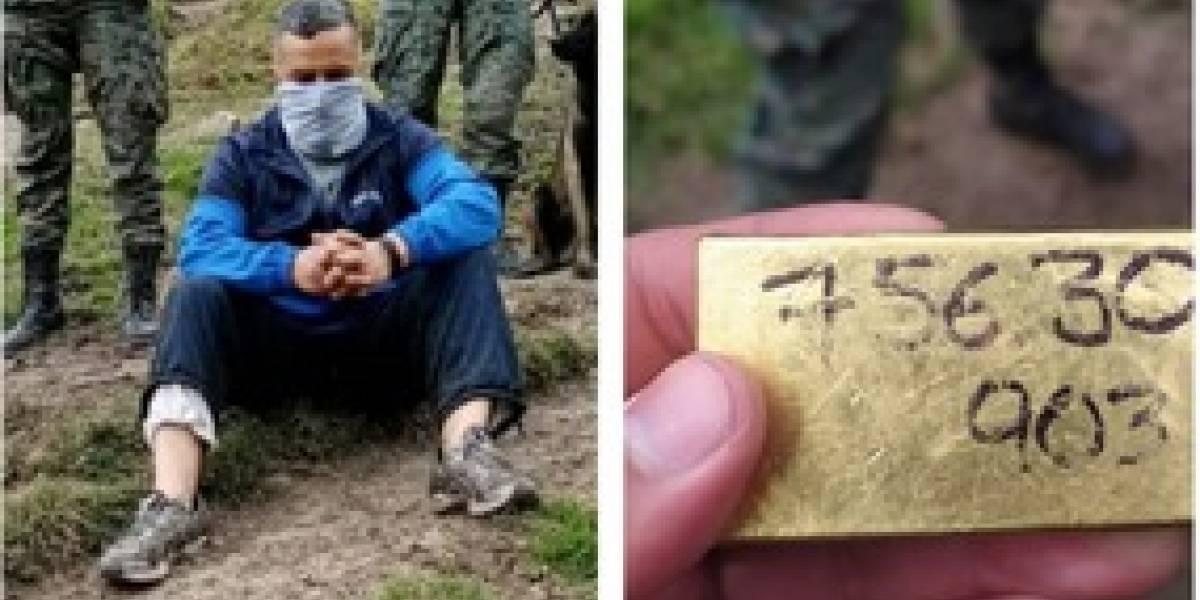 Ciudadano caminaba con 17 lingotes de oro valorados en USD 50 000