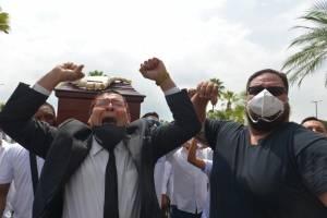 Carlos Luis Morales, entierro