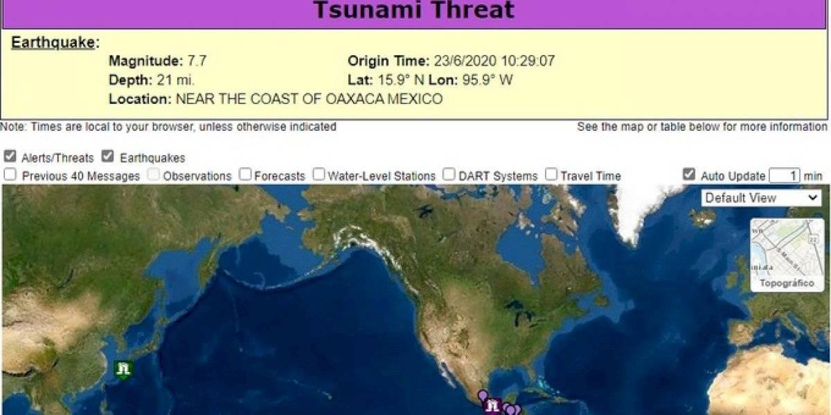 Alerta de tsunami para México y Centroamérica tras fuerte sismo: Onemi descarta posibilidad en Chile