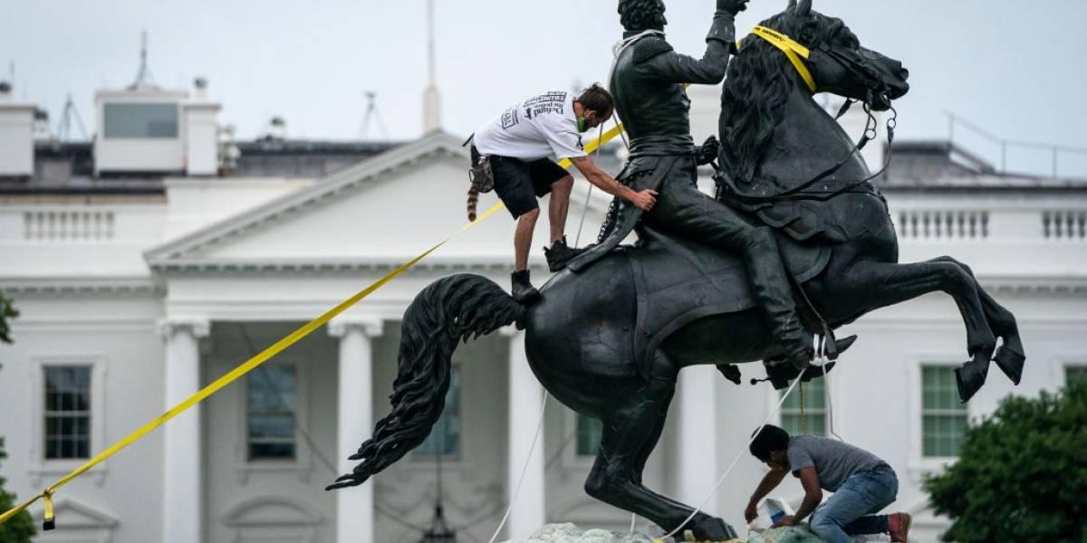 Trump pede prisão para quem danificar estátuas nos EUA
