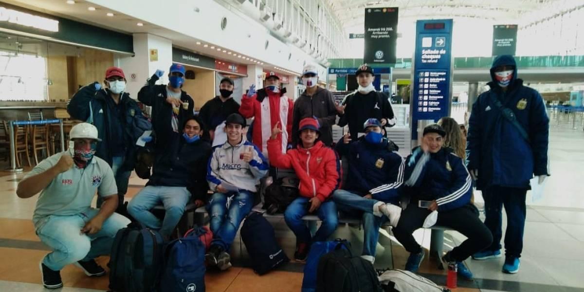 ¡Llegaron a Medellín! Hinchas del DIM atrapados en Argentina fueron repatriados
