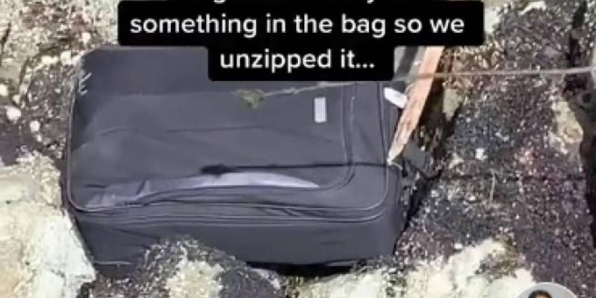 Jovens acham cadáver em mala abandonada e compartilham vídeo nas redes sociais