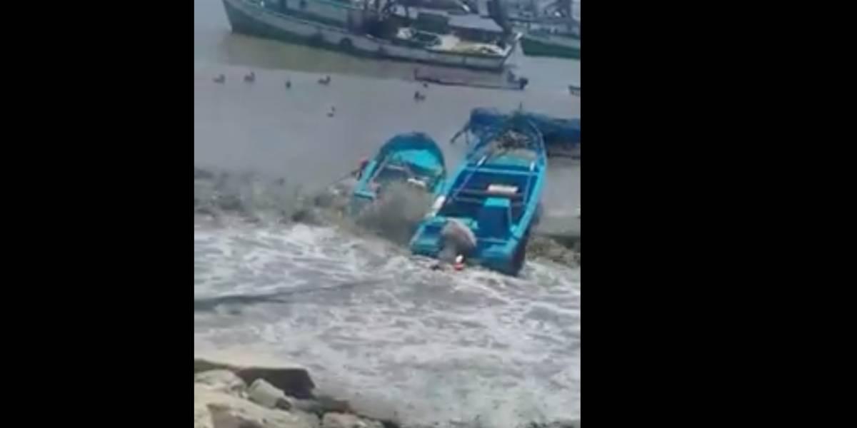 Inocar: video que circula en redes corresponde a fuerte oleaje ocurrido en Posorja el 26 de marzo