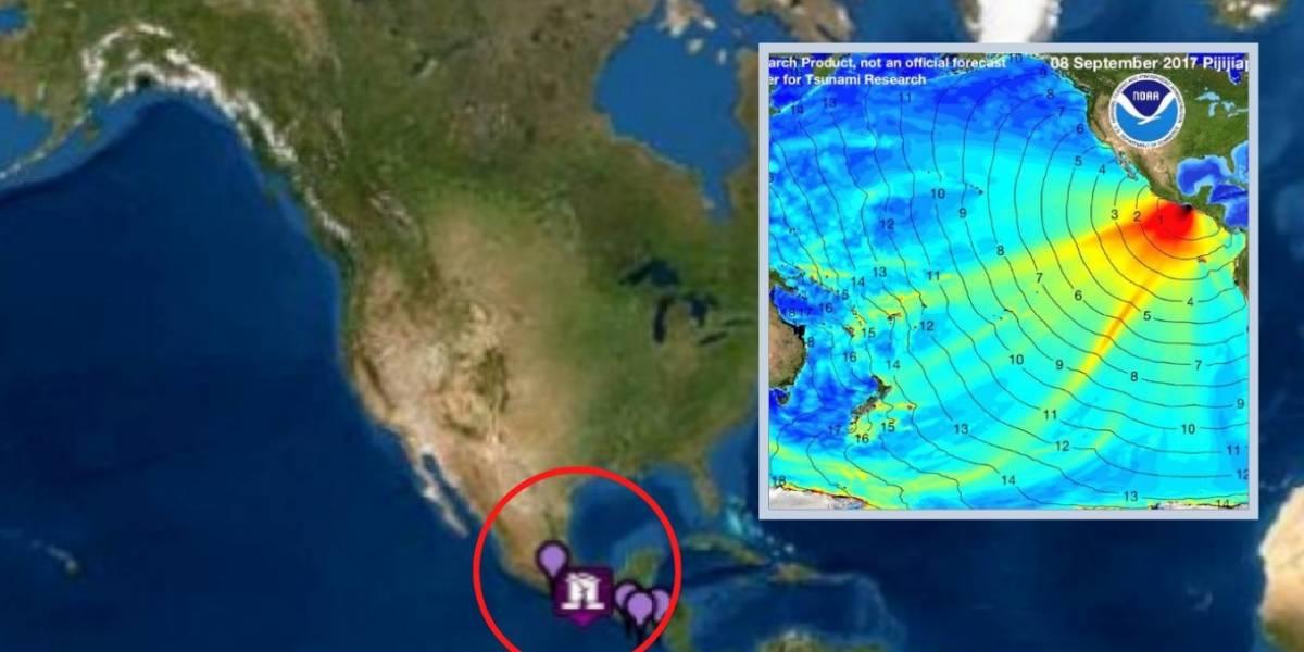 Tsunami llegará a México en los próximos minutos