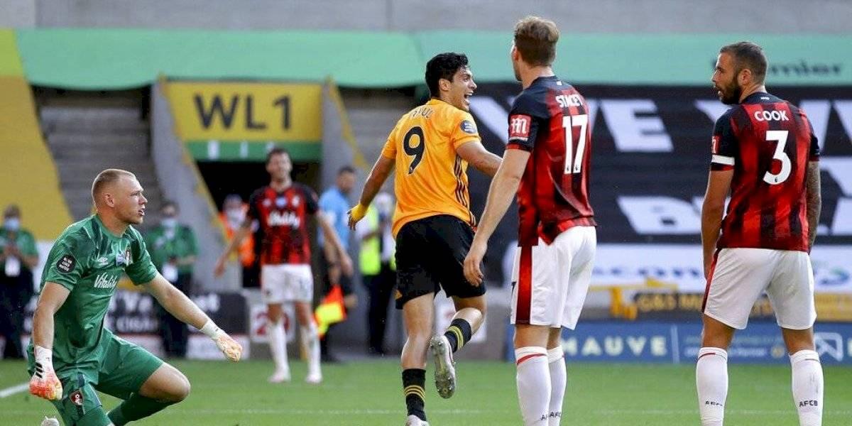 El gol de Raul Jiménez vs Bournemouth