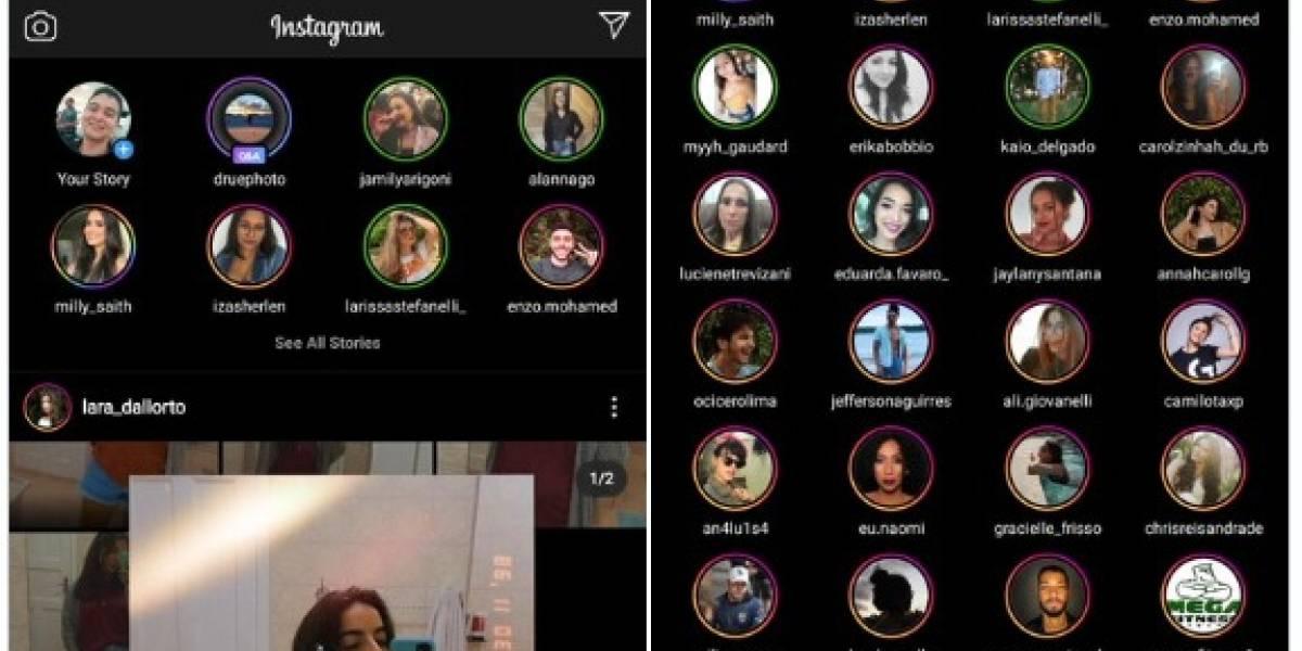 Instagram mostrará sus historias en doble fila: ya no tienes que deslizar para verlas