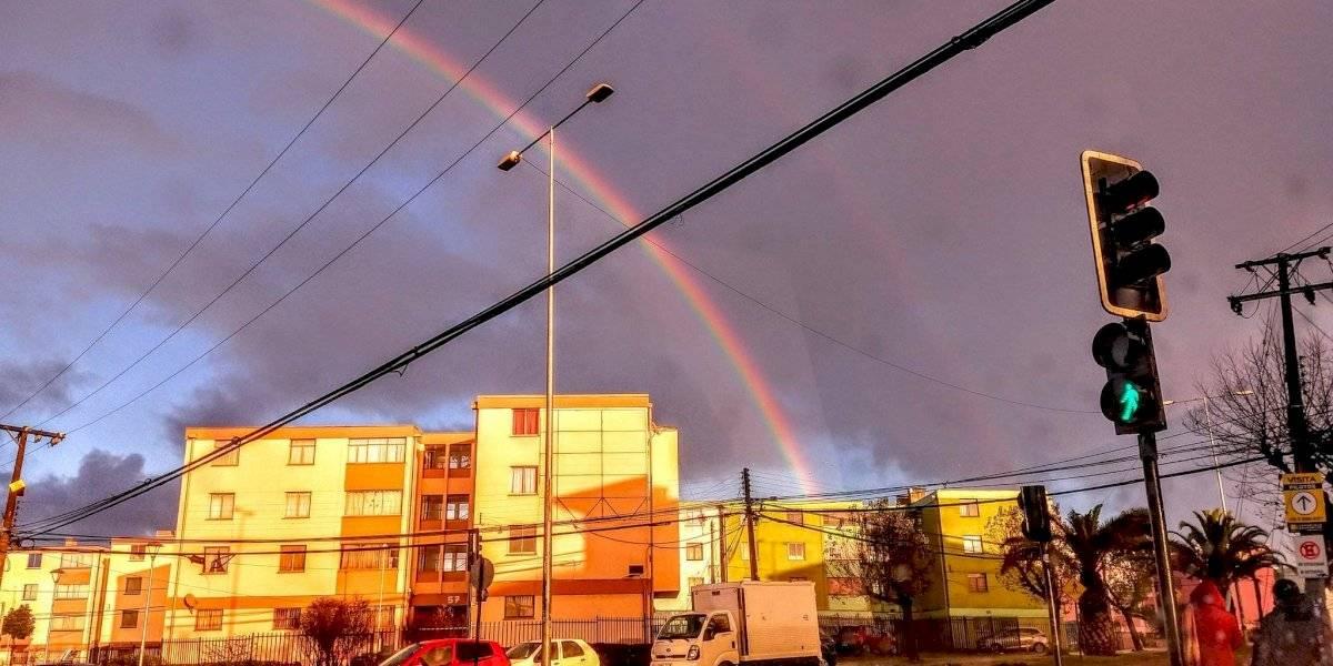 Para mirar y disfrutar: el impresionante arcoíris que apareció en Viña del Mar tras la lluvia