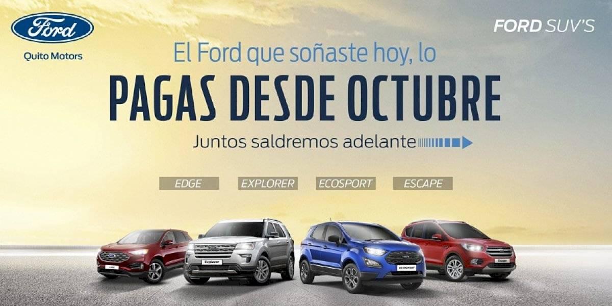 Ford Quito Motors presenta facilidades de pago desde octubre y enero de 2021