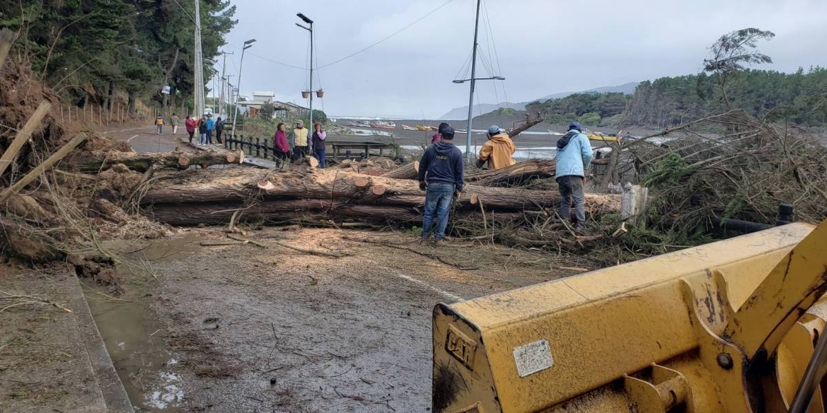 La fuerza de la naturaleza: tromba marina causa estragos en Vichuquén
