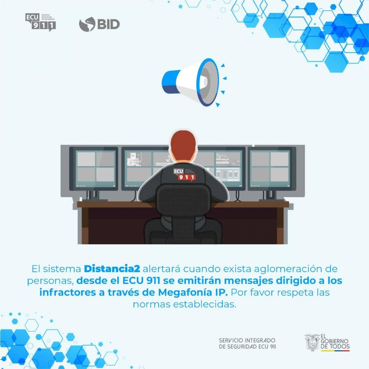cámaras del ECU 911 miden el distanciamiento físico y generan alertas
