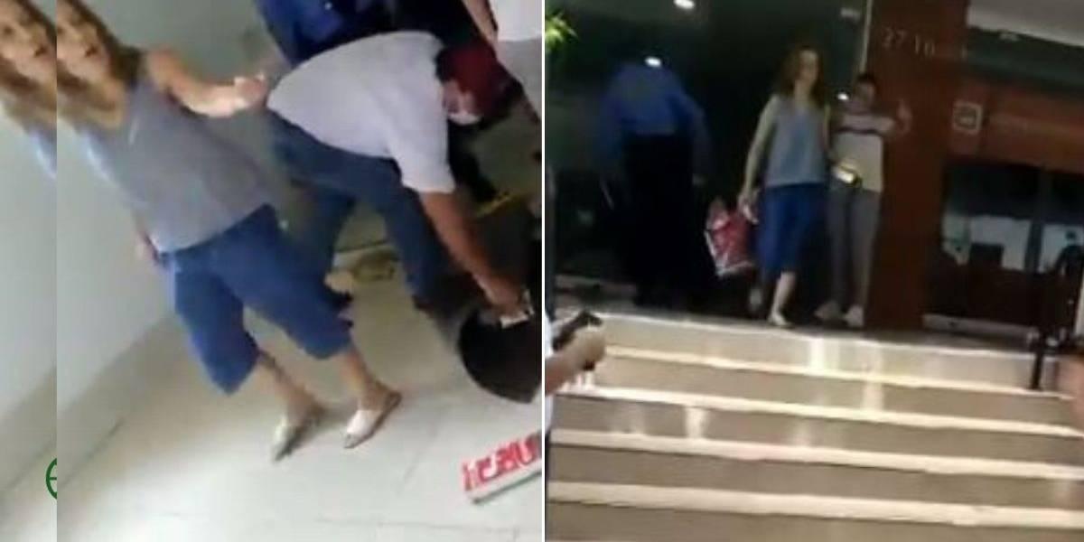 (VIDEO) La humillante manera con la que devolvieron mercado a domiciliario que entregó pedido equivocado