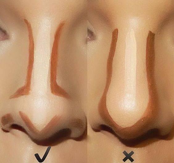 maquillaje para perfilar la nariz