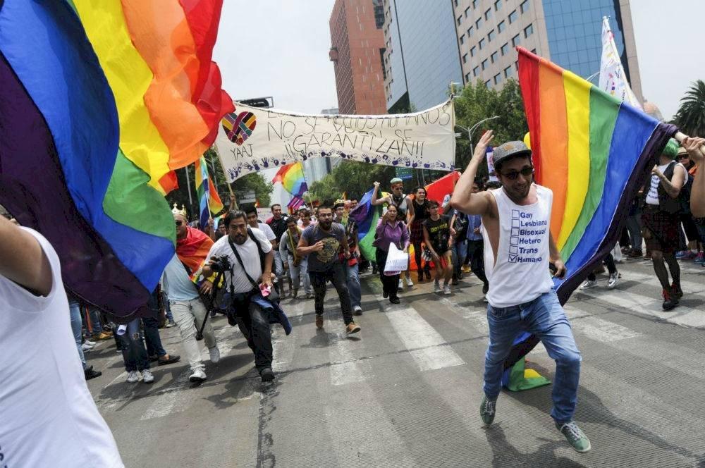 Los organizadores han sido señalados de ser irresponsables por convocar a una marcha en medio de la pandemia de Covid-19 Foto: Diego Simón Sánchez | Cuartoscuro