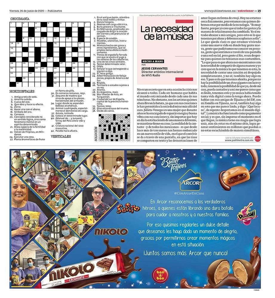 Anuncio Nikolo edición CDMX del 26 de Junio del 2020, Página 15