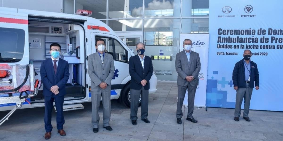 Foton Motor de Grupo BAIC dona ambulancia de presión negativa a Ecuador