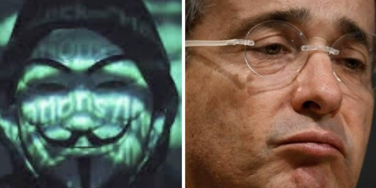 Anonymous tumbó la página web de Álvaro Uribe