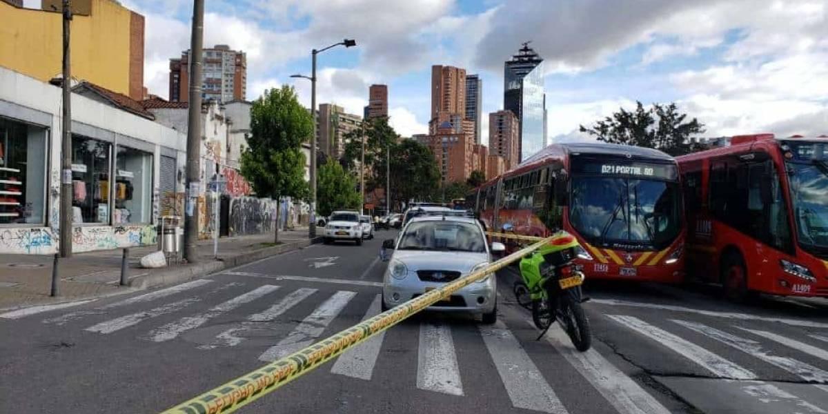 Robo a una ferretería terminó en violenta balacera en Bogotá