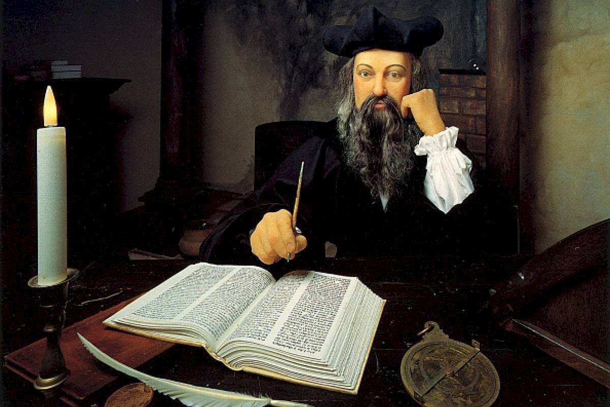 Pintura de Nostradamus