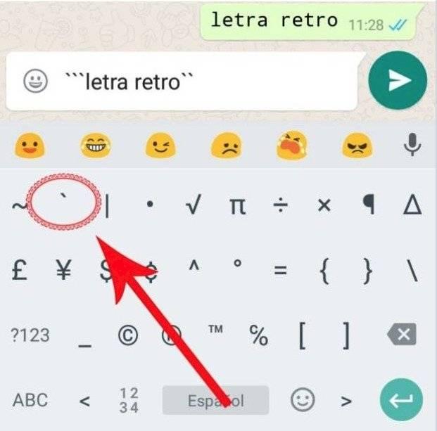tipo de letra de WhatsApp