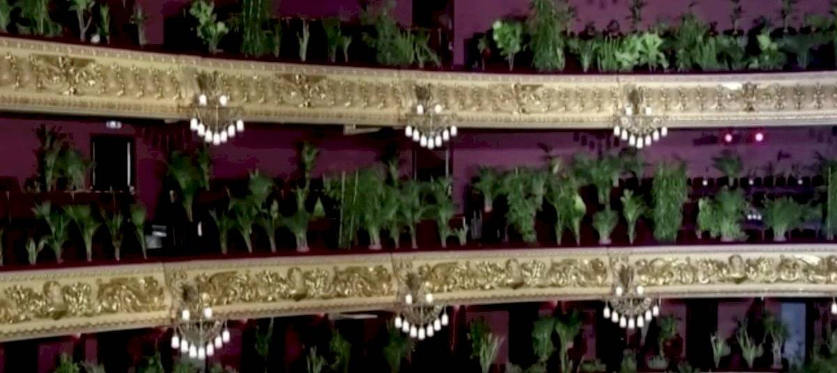 Ópera de Barcelona organiza insólito concierto para plantas