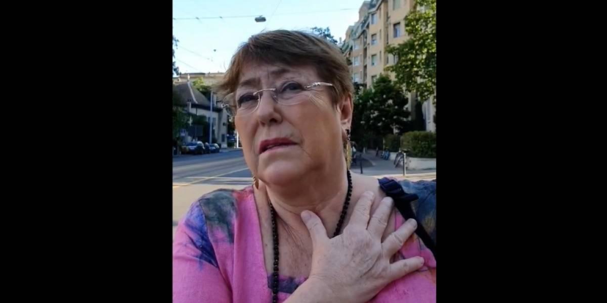 Funada en plena calle: Bachelet vivió momento de alta tensión al ser increpada por la situación de los presos mapuche