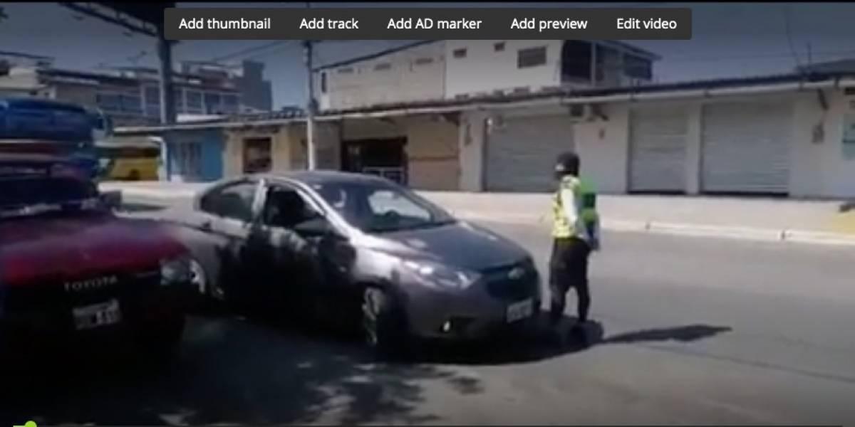 Playas: Conductor se llevó a vigilante de la CTE en el capó por 20 cuadras