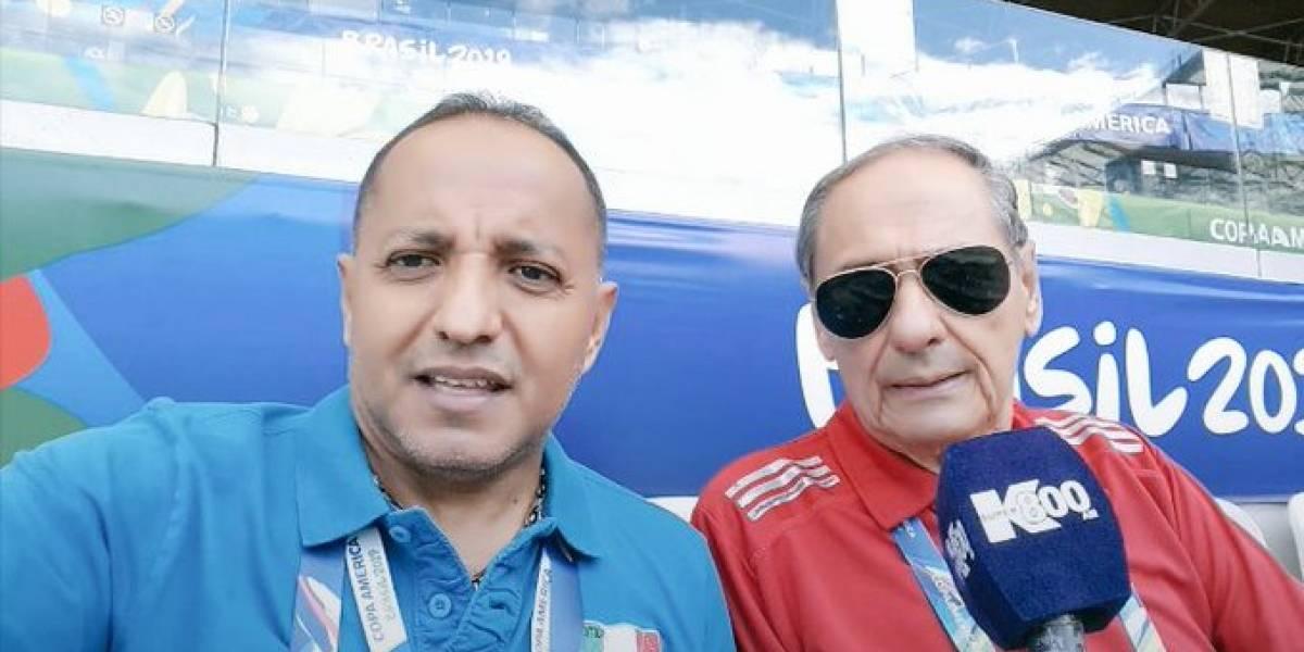 Periodista deportivo Marcos Hidalgo está hospitalizado