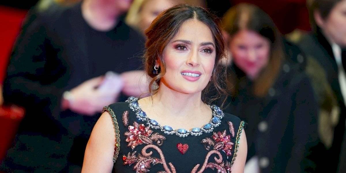 Salma Hayek se 'transforma' en hombre ¡La comparan con Luis Miguel!