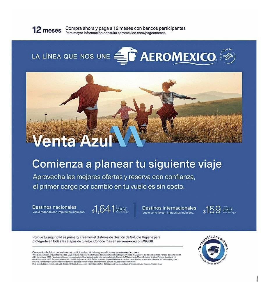 Anuncio Aeromexico edición CDMX del 29 de Junio del 2020, Página 03
