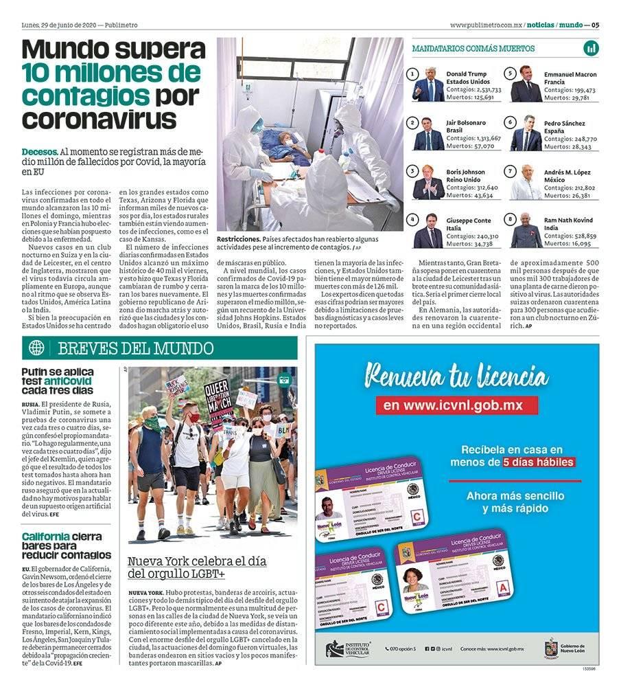 Anuncio Gobierno de Nuevo León edición Monterrey del 29 de Junio del 2020, Página 05