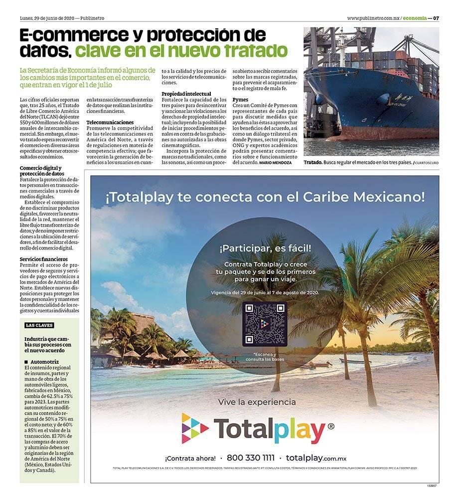 Anuncio Total Play edición CDMX del 29 de Junio del 2020, Página 07
