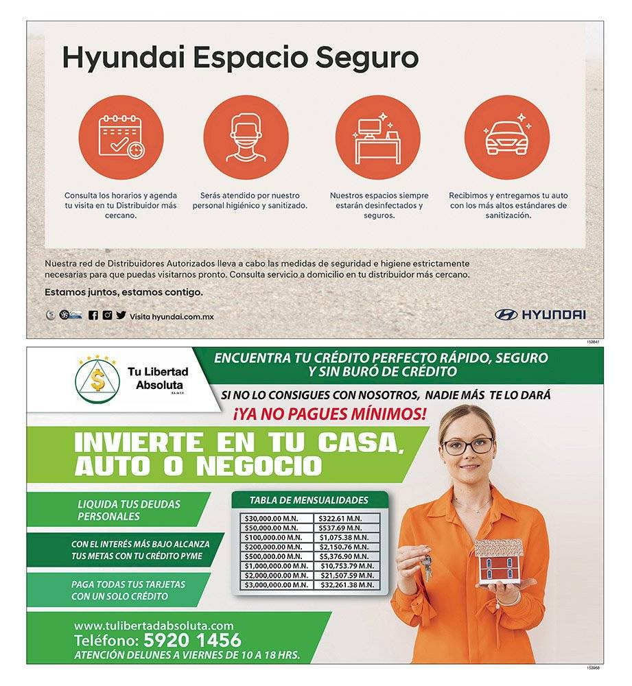 Anuncio Hyundai edición CDMX del 29 de Junio del 2020, Página 09