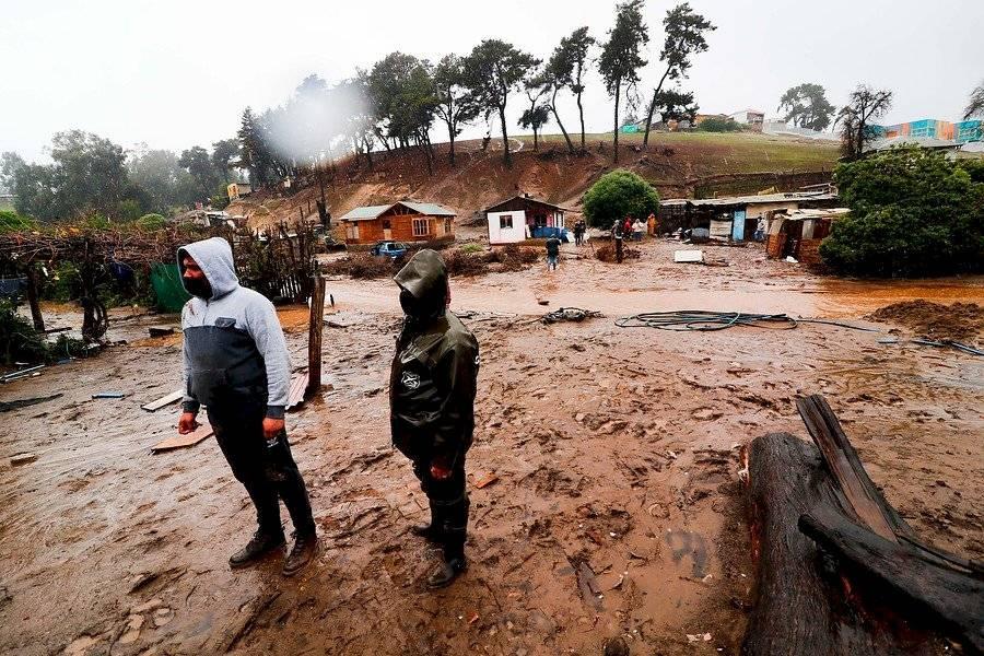 Inundaciones en Puchuncaví / Foto: Agencia UNO