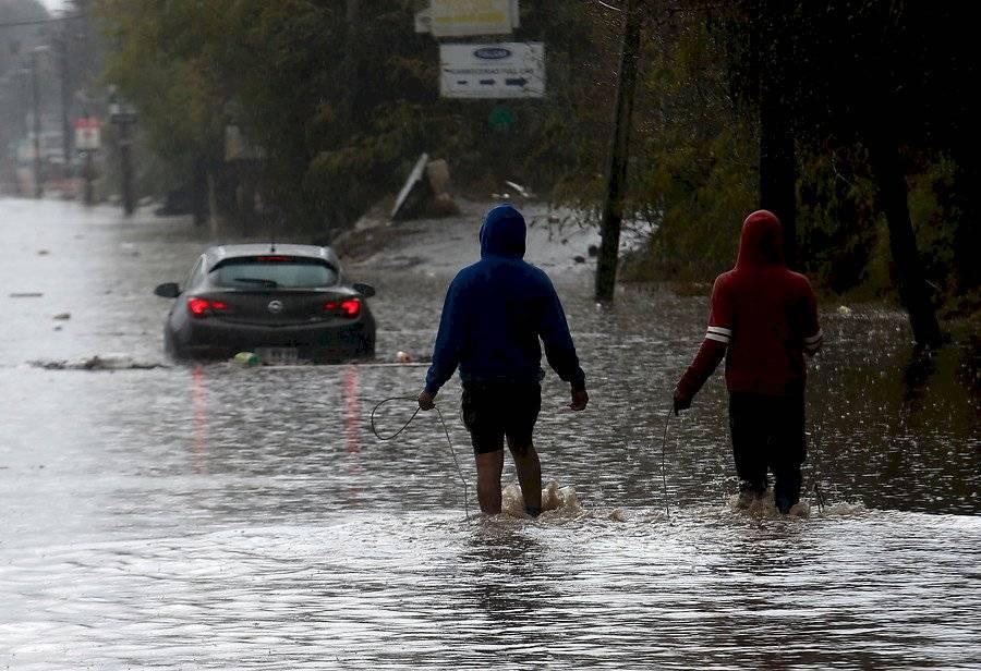 Camino Lonquén inundado / Foto: Agencia UNO