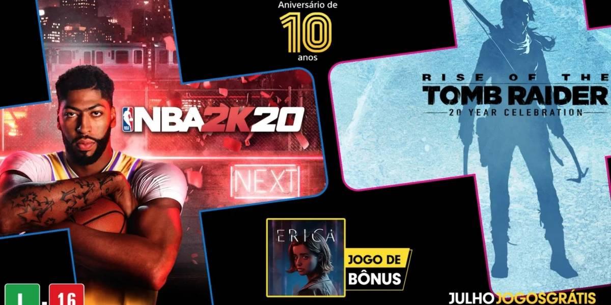 PlayStation Plus: jogos gratuitos do mês de julho de 2020; disponíveis de 7 de julho a 3 de agosto