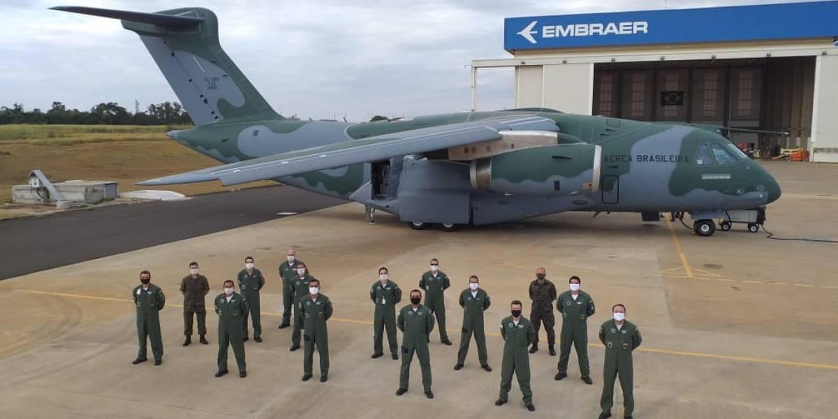 Embraer entrega o terceiro  KC-390 à Força Aérea Brasileira (FAB)