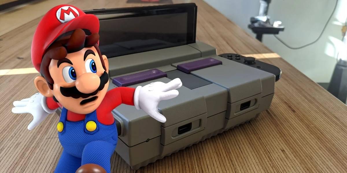 Nintendo: loco toma su Super NES rota y la convierte en un dock para Switch