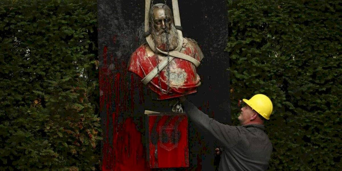 Ciudad belga retira busto de rey que colonizó Congo