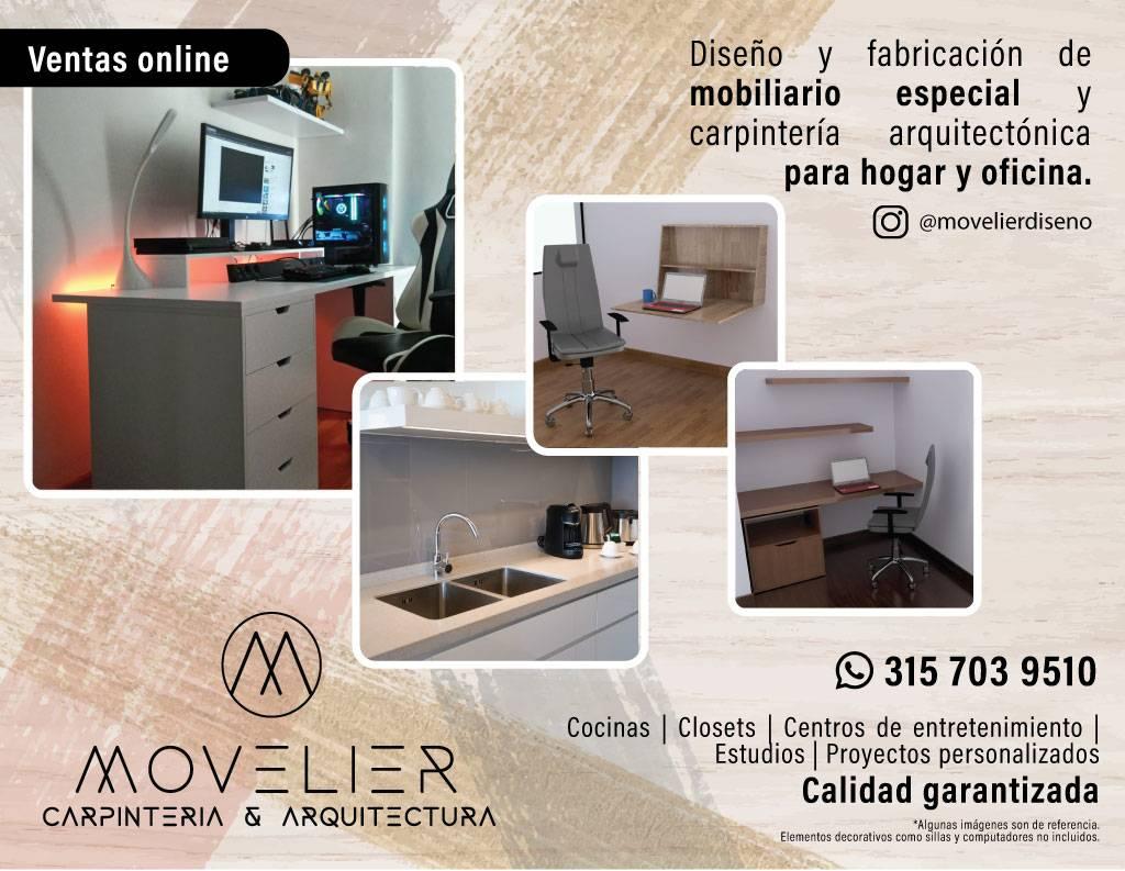 Movelier: Mobiliario ideal para mejorar tus espacios