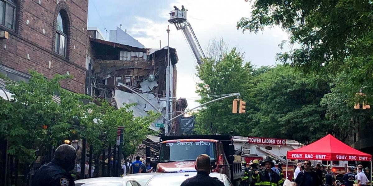 Alarma en Nueva York: un edificio se cayó en Brooklyn