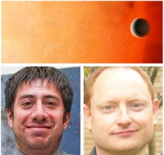 Maximiliano Moyano y James Jenkins, dos de los participantes en el descubrimiento.