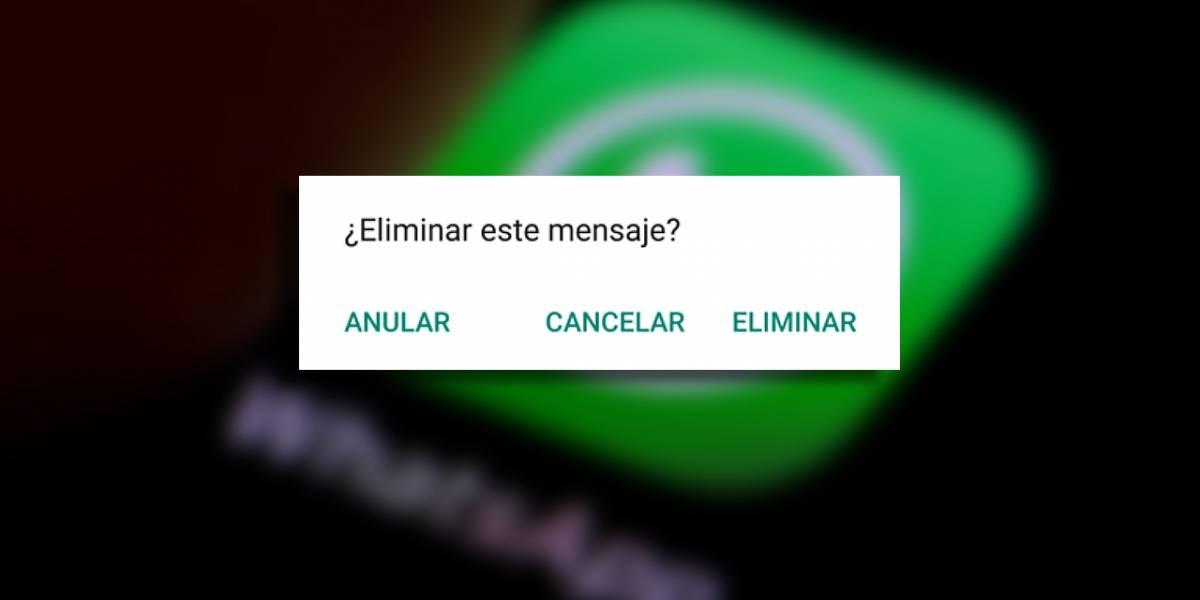 WhatsApp: cómo eliminar un mensaje para todos en una conversación