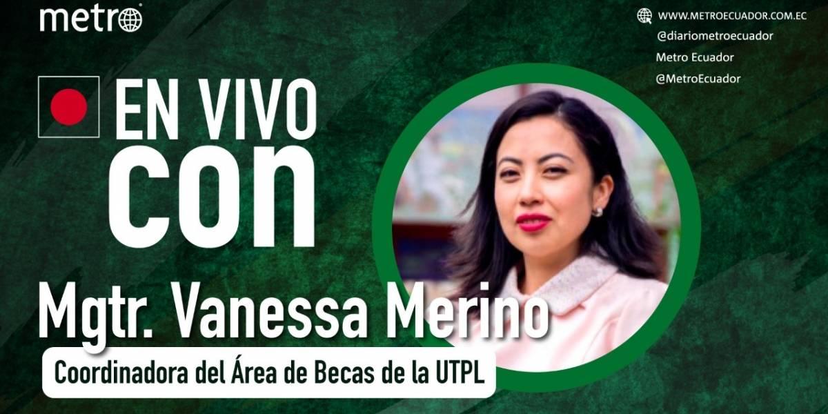 Vanessa Merino: Becas en UTPL y facilidades de pago en maestrías