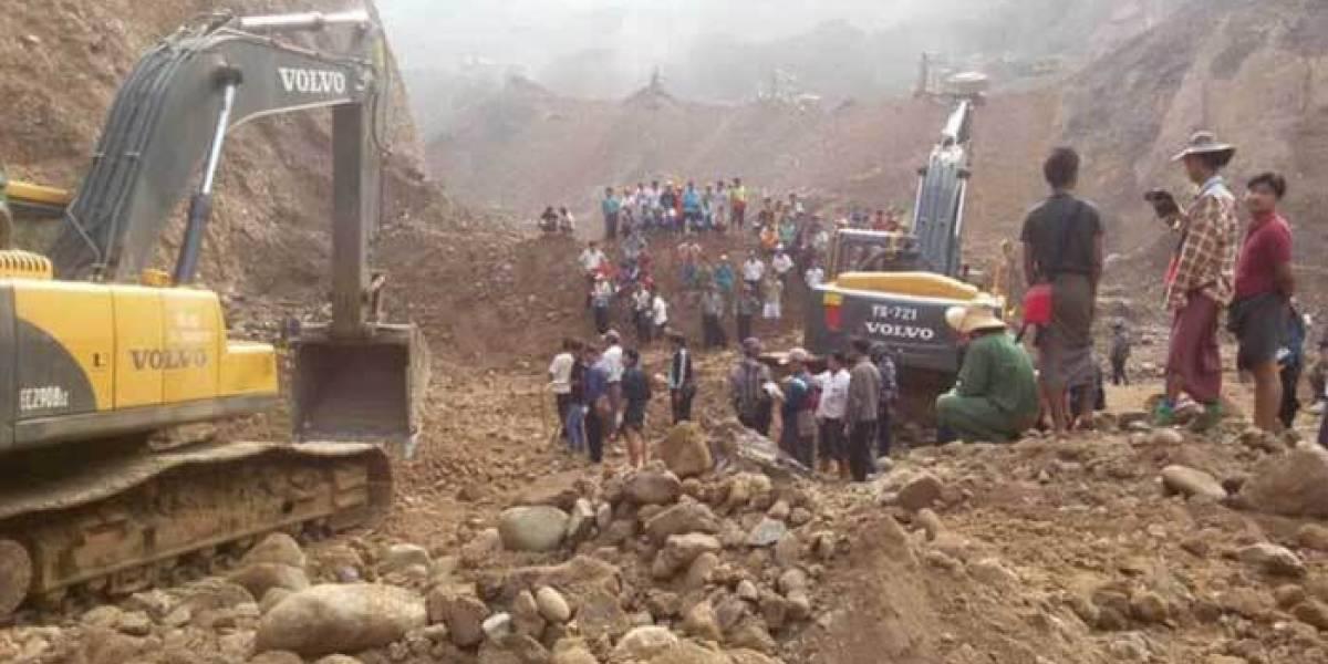Terrible accidente sepulta 162 vidas — Mina en Birmania