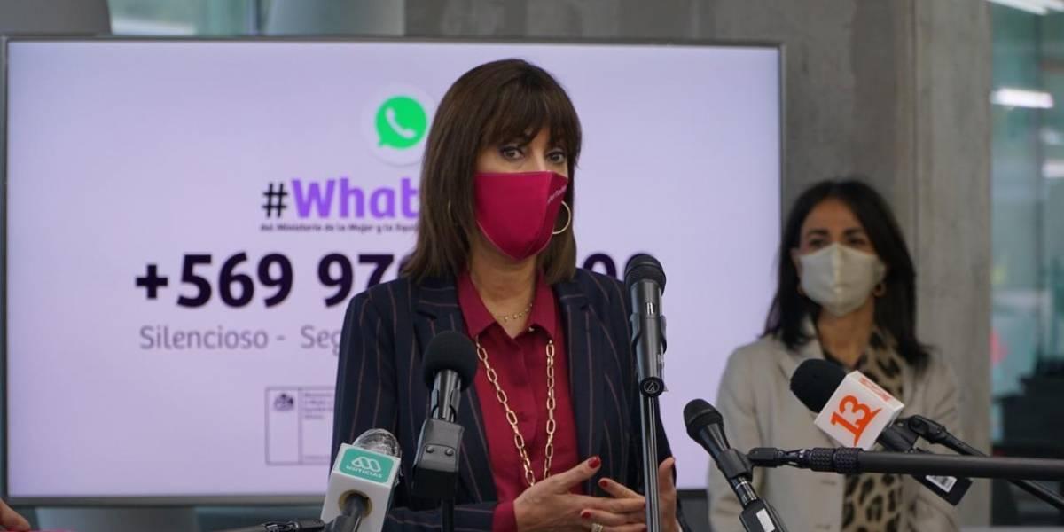 Cerca de 8.000 mujeres ya han enviado denuncias de violencia por WhatsApp al Ministerio de la Mujer