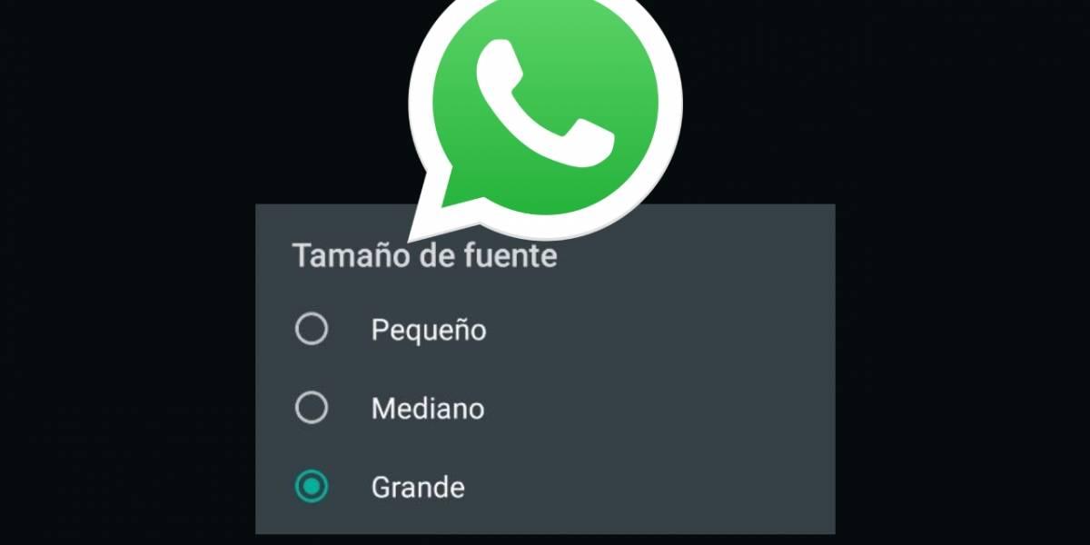 WhatsApp: cómo cambiar el tamaño de la letra dentro de la app