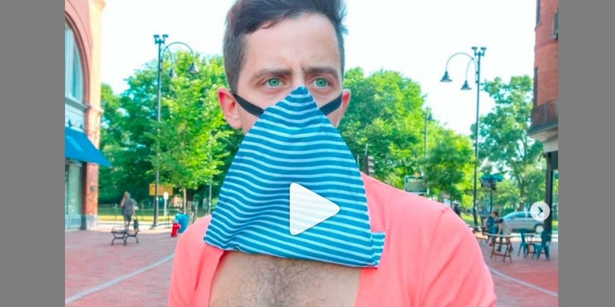 Invenção desnecessária: Camiseta para quem esquece de usar máscara de proteção
